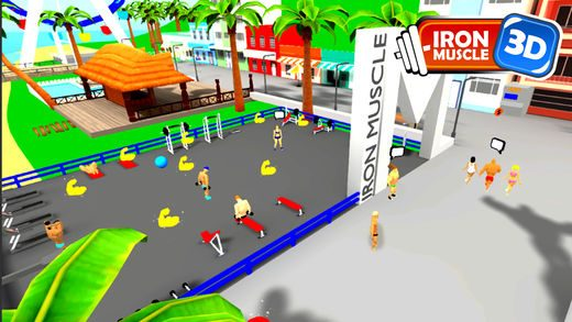 iron muscle 3d bodybuilding and fitness game